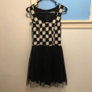 Black & White party dress from Francesca's